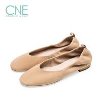 CNE2019年秋冬款温柔鞋圆头芭蕾鞋懒人鞋奶奶鞋女单鞋9M13301