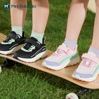 迷你巴拉巴拉儿童运动鞋2021夏季男女童宝宝透气防滑黑色鞋子