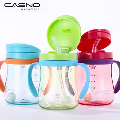 宝宝水杯儿童吸管杯带手柄防漏水杯幼儿喝水饮水杯水瓶婴儿学饮杯 新疆,西藏,无法发货