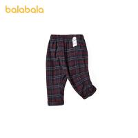 巴拉巴拉女童打底裤春秋外穿薄款婴儿裤子宝宝长裤英式格纹休闲裤