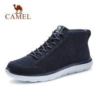 camel骆驼男鞋秋季新款高帮鞋男韩版鞋子潮流休闲鞋百搭真皮靴子男
