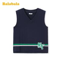 巴拉巴拉男童马甲儿童背心2020新款春季中大童纯棉经典学院针织衫