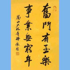第九十十一十二届全国人大代表,少林寺方丈释永信(奋斗有至乐)