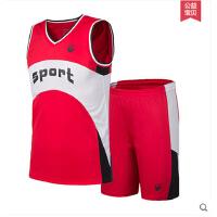 速干篮球衣 训练服套装 篮球套装 男童无袖背心t恤短裤套装