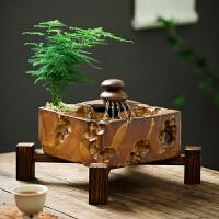 陶瓷流水摆件办公室桌面假山喷泉客厅风水轮加湿器鱼缸装饰品