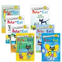 顺丰发货 pete the cat 皮特猫 7本儿童英文绘本套餐Play Ball! A Pet for Pete My first Pete the Cat Scuba-Cat