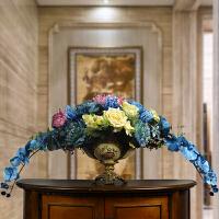 欧式大型玄关装饰花仿真花套装陶瓷花盆假花创意家居摆饰绢花
