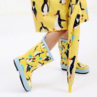 20190815062908848新款 男女儿童卡通橡胶雨鞋 幼儿园宝宝户外防滑水鞋 中筒雨靴