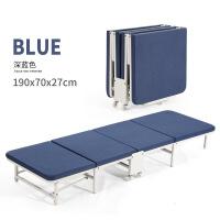 折叠单人床逸升办公室午休床便携式四折木板海棉床简易床陪护床 木床