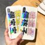 免邮 iphone苹果手机壳 iPhone X/8/7/6/6S plus 苹果系列保护壳 防摔白边炫彩极光玻璃壳 保护套