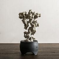 创意手工陶瓷太湖石香炉摆件假山摆件中式客厅书房装饰陶瓷塔香炉