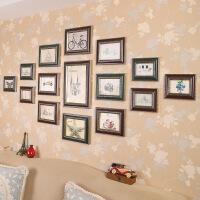 复古照片墙装饰组合创意相框挂墙菱形相片墙地中海个性 酒红色+