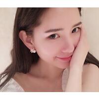 耳钉 女 珍珠 s925银 甜美耳环 女 韩版 无耳洞耳夹 耳针 珍珠 时尚 个性耳钉耳饰