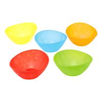 【当当自营】满趣健(munchkin)五色碗5个装 宝宝碗练习碗婴儿碗吃饭碗 儿童辅食碗辅食餐具 防滑防摔彩色碗