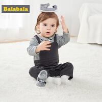 巴拉巴拉新生儿婴儿步前鞋软底 男女六个月宝宝鞋萌2019新款春秋