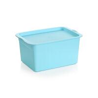加厚桌面收纳盒 塑料 文具整理盒储物盒内衣物收纳箱小盒子r