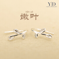 纯银耳钉女气质925银耳环防过敏简约银饰品耳环个性银耳钉