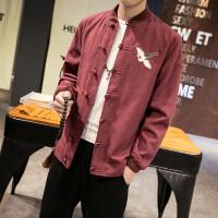 中国风大码唐装民国风青年修身中山装复古风传统汉服男士民族服装 2XL 建议 145-160斤