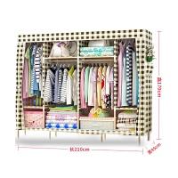 防潮布衣柜收纳柜时尚简易组装幼儿园宝宝小孩防水挂衣服柜子衣橱