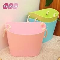 日本fasola百货多功能大号塑料衣物玩具收纳筐 儿童洗澡桶 脏衣桶