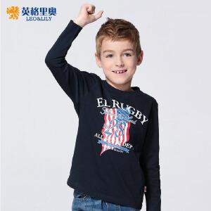儿童圆领长袖T恤秋季打底衫2017休闲男童纯棉体恤中大童长袖单衣