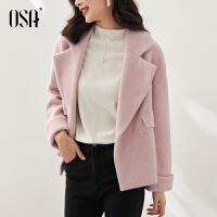OSA欧莎2021年秋装新款小香风时尚百搭宽松短款外套女