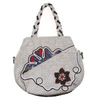 新款民族风女包手提包单肩包斜挎包文艺单肩包斜挎包迷你女手提包 卡其色