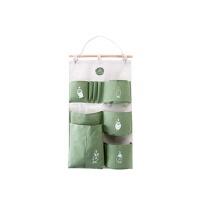 印花布艺储物袋门后挂墙多兜杂物收纳袋 宿舍墙上悬挂式收纳挂袋