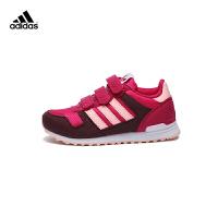 【3折价:149.7元】阿迪达斯(adidas)童鞋秋季新款男女童休闲运动鞋轻便跑鞋BB2449红色