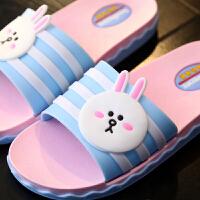 儿童拖鞋夏 卡通可爱软底防滑凉拖鞋大中小女童室内家居拖鞋