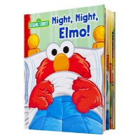 英文原版 芝麻街:晚安阿莫 立体书 Night, Night, Elmo! (Sesame Street)
