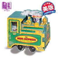 迷你车玩具书系列 迷你车子书 纸板书英文原版The Mini Express儿童玩具车车书