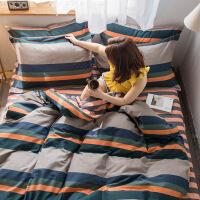 全棉四件套纯棉加厚磨毛床上用品被套床单1.8m学生单人双人