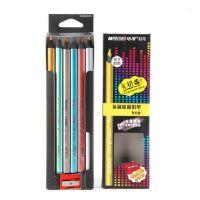 MARCO马可金属彩色铅笔 马可粗三角6色金属彩色铅笔 5402B-6CB