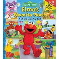 英文原版 芝麻街:阿莫*喜欢的地方翻翻书 Sesame Street: Elmo's Favorite Places