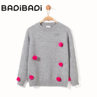【2件3折:56】巴拉巴拉旗下 巴帝巴帝女童儿童甜美俏皮可爱毛衣2018冬季新款