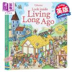 英国Usborne认知翻翻书Look inside Living Long Ago远古时代