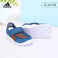 阿迪达斯(adidas)童鞋儿童凉鞋新款男女宝宝婴童魔术贴包头沙滩运动凉鞋BA9376 蓝/橙色