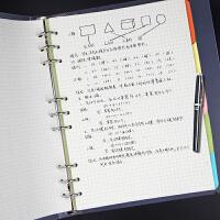 活页笔记本文具加厚A4可拆卸活页夹A5空白简约商务本子B5方格本