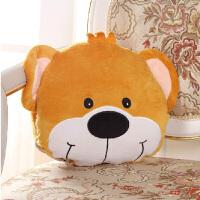 伊暖儿 宠.爱USB动漫可爱电暖宝暖手捂 电热抱枕午睡旅行护腰颈抱枕 靠枕 靠垫(双发热芯) 帅气小熊