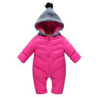 婴儿童男女宝宝季加厚连体衣羽绒服新生儿哈衣外出