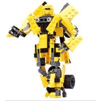 积木组装拼装拼插变形金刚5机器人大黄蜂擎天柱飞机模型玩具男孩儿