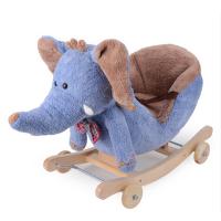 蓝色城堡儿童摇马音乐两用摇摇马婴幼儿毛绒摇椅 儿童节礼物