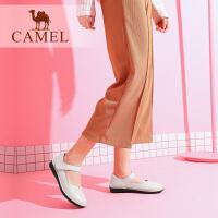 骆驼女鞋2019春夏新品中老年真皮软底妈妈鞋舒适平底大码中年女鞋