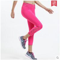 薄款九分跑步长裤 速干健身弹力打底裤 运动紧身裤 女
