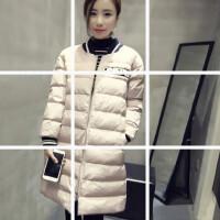 新款冬装韩版女装显瘦棒球服羽绒棉棉衣中长款学生外套潮厚棉袄女