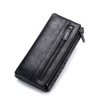 钱包男士长款多功能小手包拉链青年软皮夹子手机零钱包潮