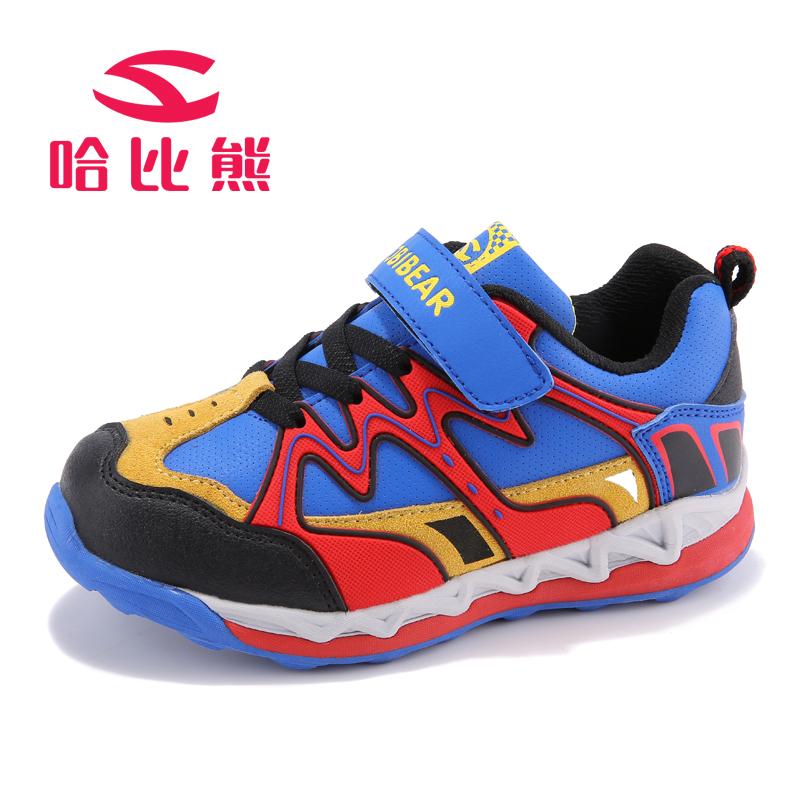 哈比熊春秋季新款儿童户外运动鞋男女童防滑登山鞋
