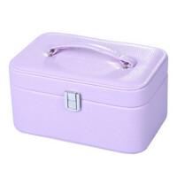 首饰盒饰品收纳盒简约欧式公主手饰盒皮质双层桌面整理盒