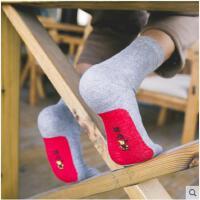 本命年袜子男韩版棉质长筒秋冬季中筒袜鞋垫踩小人男士棉袜
